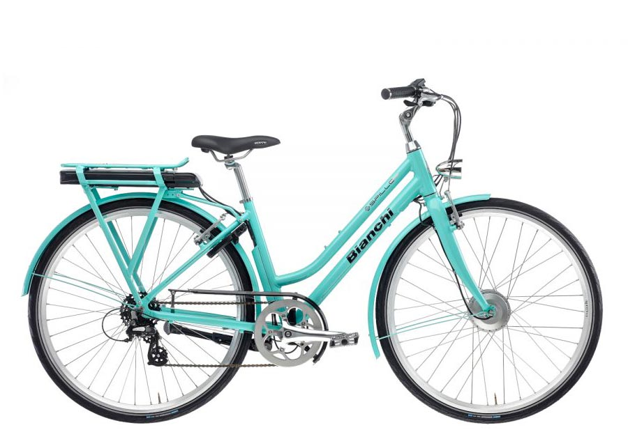 E-bike rental: Bianchi e-Spillo Lady