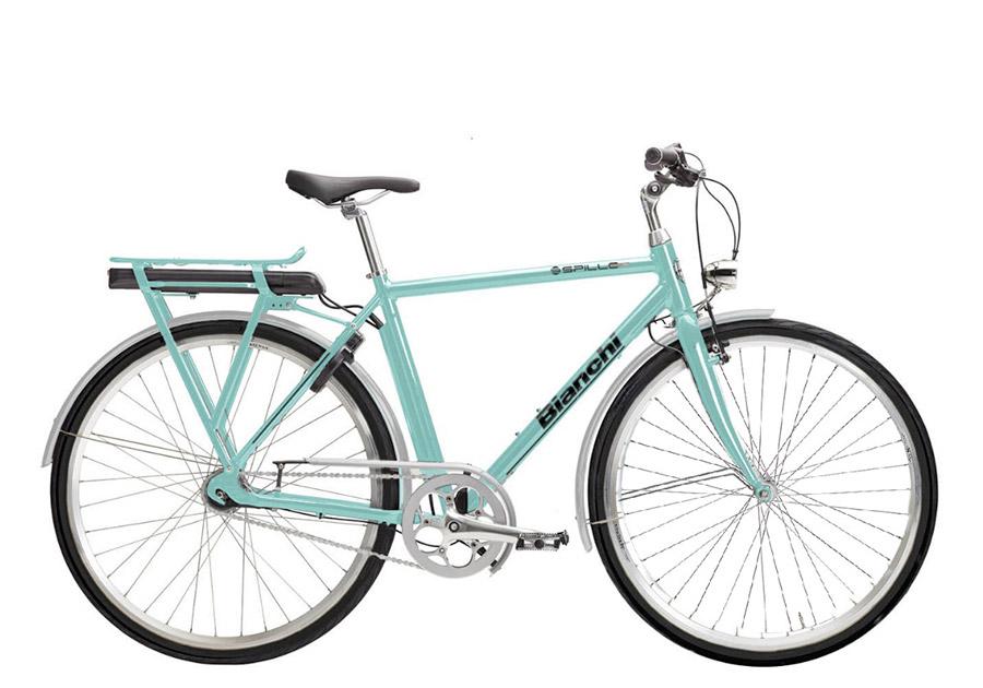 E-bike rental: Bianchi e-Spillo Gent